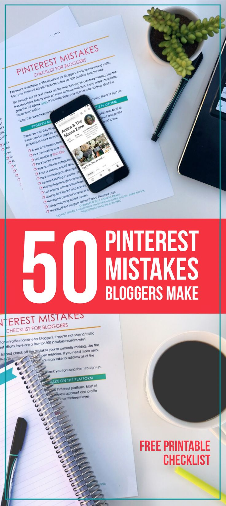 Are you tired of working hard on Pinterest and seeing little result? Go through this checklist to find out what mistakes you're making. Follow these quick fixes to begin generating traffic to your blog.