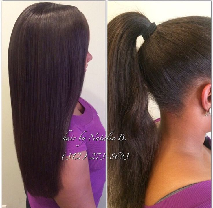 Weaves that can be pulled up into a high ponytail! PERFECT PONY SEW ...