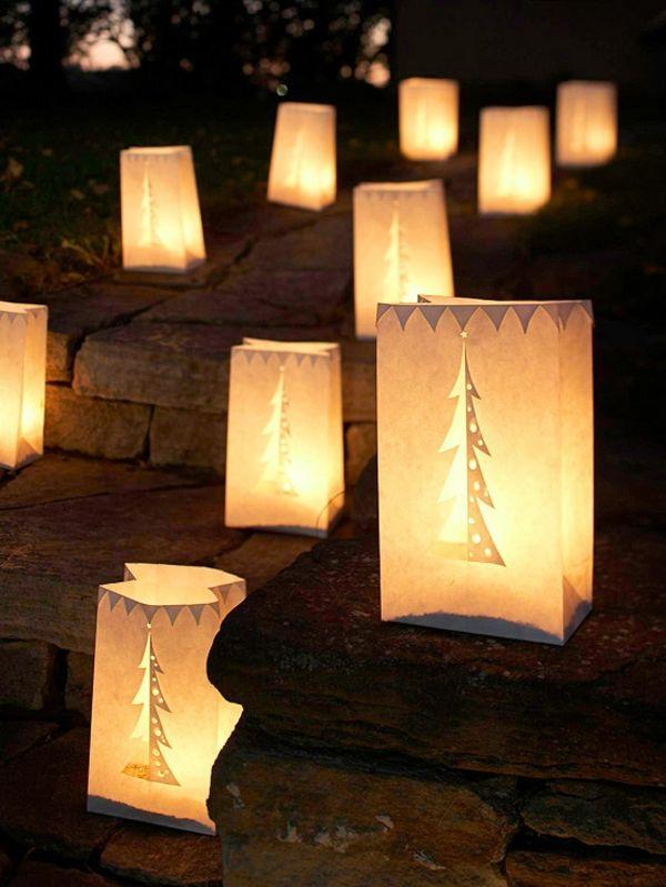 Amerikanische Weihnachtsbeleuchtung.Weihnachtsdeko Aus Leuchtenden Papiertüten A Celebration Of