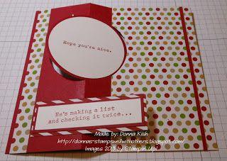 circle card thinlit - santa's list