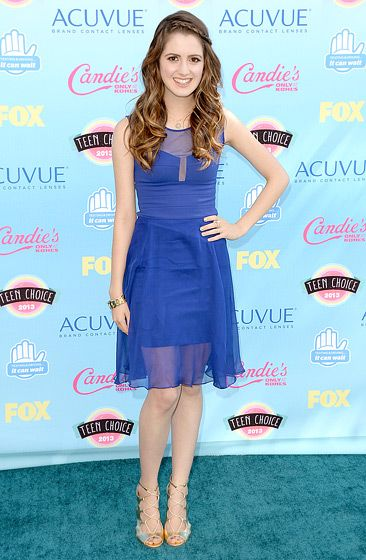 Laura Marano The Austin & Ally star looked amazing in a sheer blue dress.