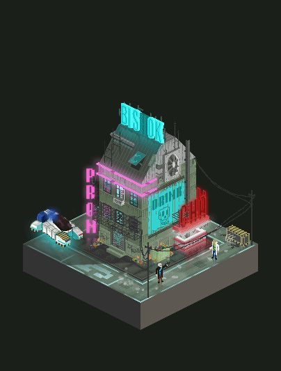 CYBERPUNK by Balayé Cédric, via Behance #cyberpunk #pixelart