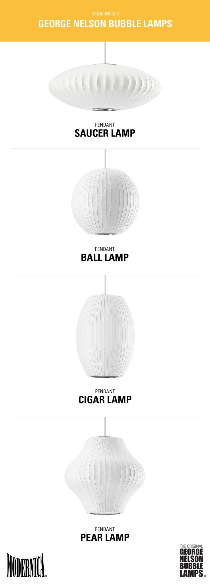 Modernica George Nelson Bubble Lamp Pendant lamps | mid-century modern iconic lighting