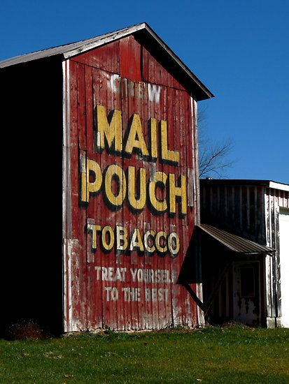 Looking for the Mail Pouch signs on barns while driving to Pennsylvania