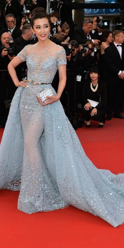 The Best of the 2015 Cannes Film Festival Red Carpet - Li Bingbing from #InStyle in Zuhair Murad Couture.