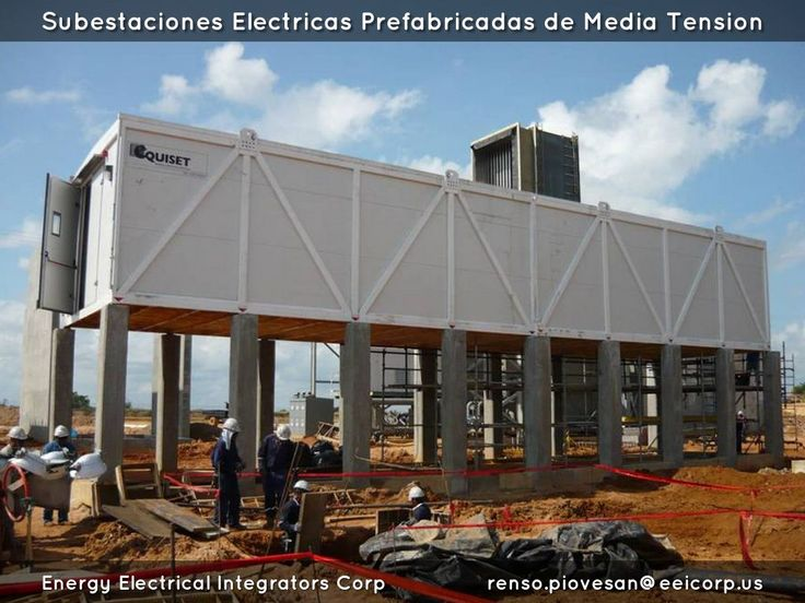 Shelters Electricos. Electrical Shelters. Subestaciones Electricas Prefabricadas. Salas Electricas Tipo E-House. Power Distribution Buildings.