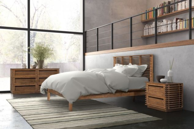 Scandinavian design by nature this queen size bed features an open airy modern design reminiscent of vacations spent on the European beaches. Accessorize your bedroom furniture with matching double dresser, end table, TV stand, credenza and desk. Modern Furniture sells this exclusive set at our website: https://inoutdoorliving.com/products/scandinavian-platform-bed-modern-bedroom-furniture-by-zuo-modern