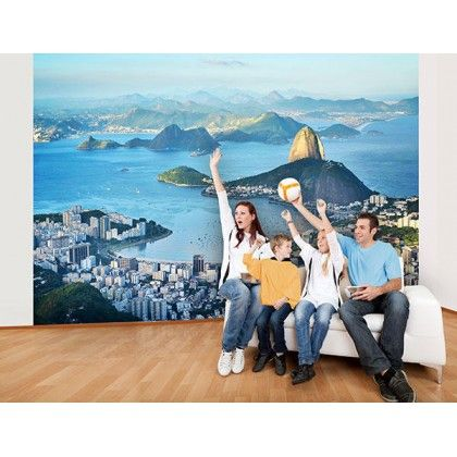 Ideal Decor Rio Wall Mural   The Ideal Decor Rio Wall Mural Captures The  Beauty Of Rio During The Day. A Vista Of Green Mountains And The Blue Water  ... Part 96