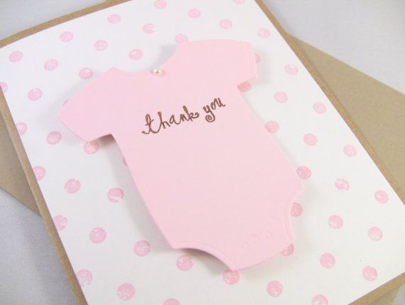 PACK of 10 3D baby thank you, or baby shower invitations! can customize color!! on Etsy, $20.00
