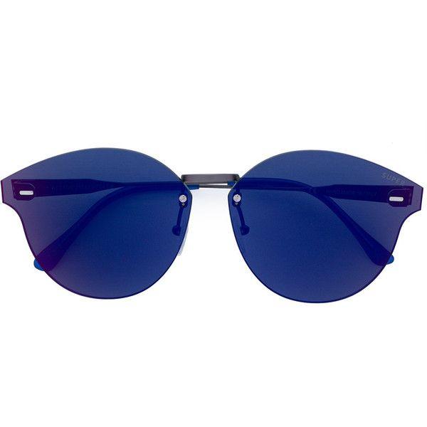Retrosuperfuture Tuttoente Panama sunglasses (395 BGN) ❤ liked on Polyvore featuring accessories, eyewear, sunglasses, metallic, round frame glasses, retrosuperfuture sunglasses, unisex glasses, round frame sunglasses and metallic sunglasses