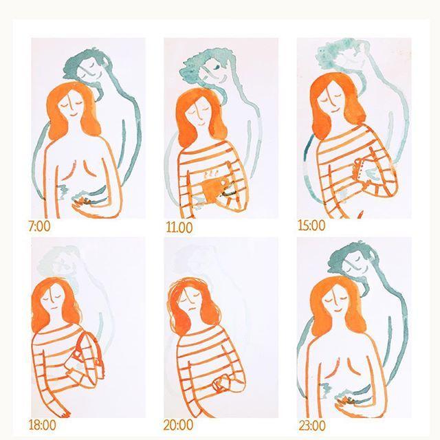 Juntos #100daysofmotivationforIllustration #100dayproject 20/100 #historieta #watercolor #comic #sketch #love #couple #hours
