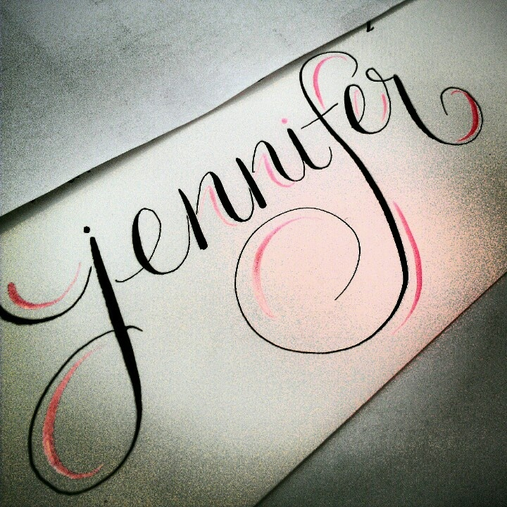 Accent colors calligraphy and pink accents on pinterest