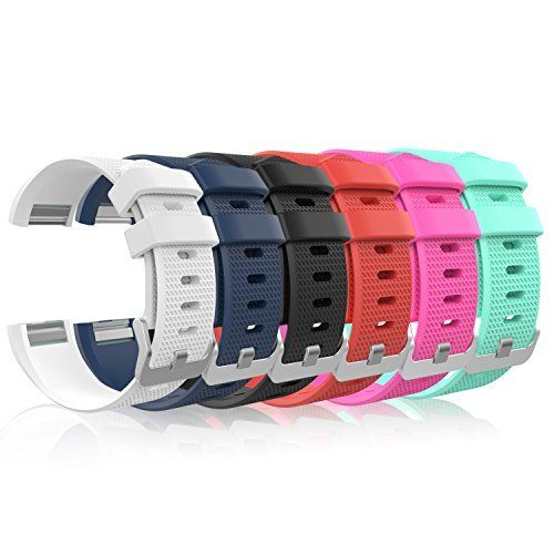 Fitbit Charge 2 Band, MoKo [6 PCS] Soft Silicone Adjustable Replacement Sport Strap Band for Fitbit Charge 2 Smartwatch Heart Rate Fitness Wristband. - http://www.exercisejoy.com/fitbit-charge-2-band-moko-6-pcs-soft-silicone-adjustable-replacement-sport-strap-band-for-fitbit-charge-2-smartwatch-heart-rate-fitness-wristband/fitness/