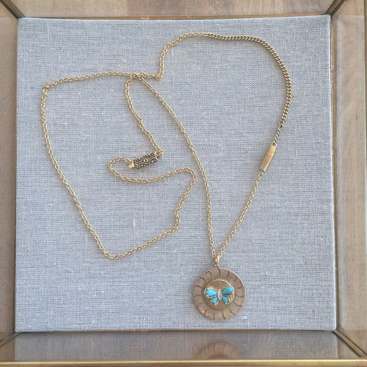 Long Turquoise Butterfly Necklace- Laura James Jewelry – Laura James Jewelry