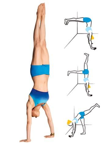 Yes-You-Can Yoga! // Handstand © Munetaka Tokuyama / MCKIBILLO (illus.)
