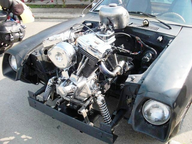 Harley V-Twin in a Pinto!Muscle Cars, Harley V Twin, Mike Harley, Kustom Cars, Rats Rods, Hot Rods