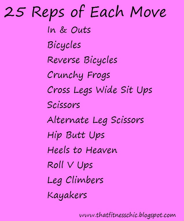 That Fitness Chic: Ab Challenge, At Home Workout, Fitness Blog, #Fitness