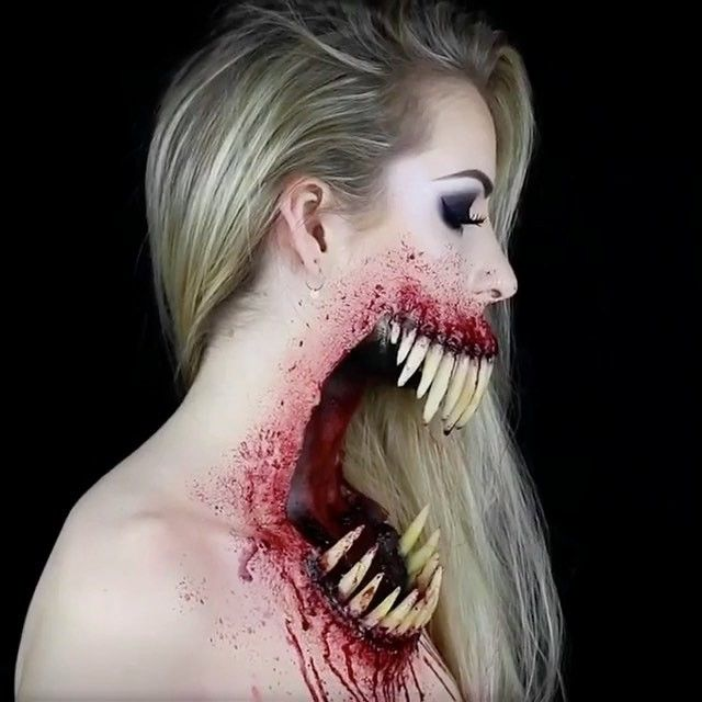 Crazy Makeup! By @simple.symphony FOLLOW us @crazy.makeups for more.... . Use #crazymakeups to be featured! . . #makeup #makeupartist #mua #artist #art #creative #halloween #horror #awesomearts #monster #sfx #sfxmakeup #fx #specialfx #cool #horrormakeup #makeupart #horrorfan