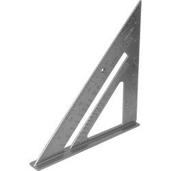 Roofing Square 180mm. Cast Aluminium With Embossed Metric And Imperial  Graduations. Protractor Scale 0