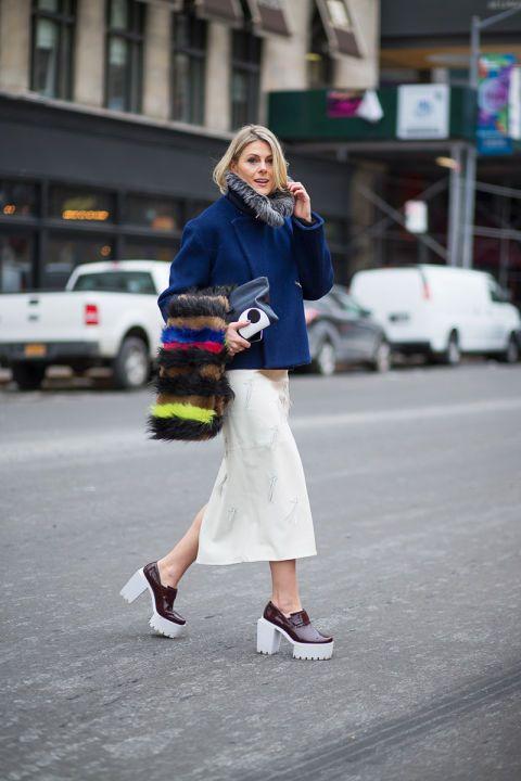 Sofie Valkiers in Stella McCartney shoes // fashion week street style