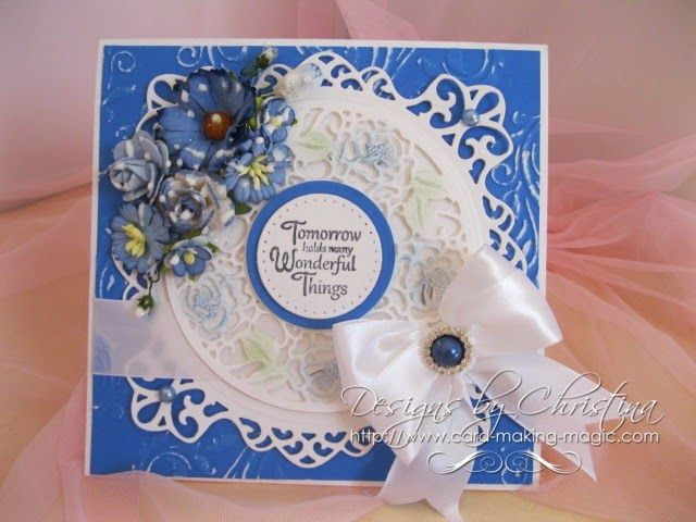 Awesome Card Making Magic Ideas Part - 1: Italian Collection From Sue Wilson - Flowers, Ribbons And Pearls