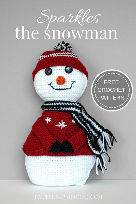 Free Crochet Pattern: Sparkles The Snowman | christmas | Pinterest ...
