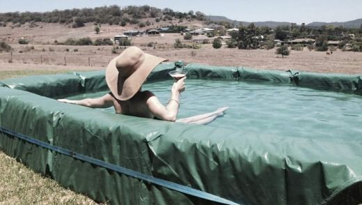 25 best ideas about hay bale pool on pinterest building - How to build a swimming pool yourself ...