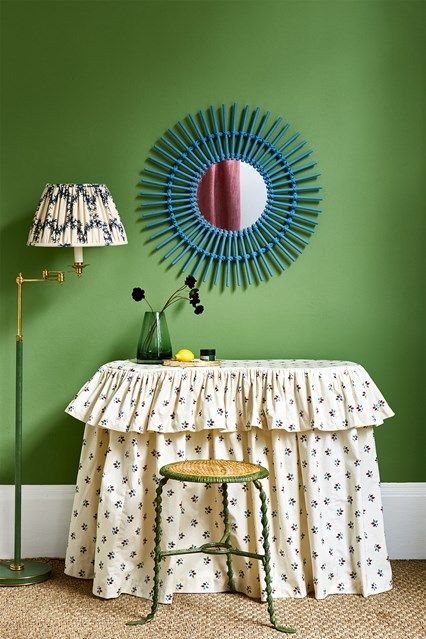 Green Hallway - Invisible Green by Edward Bulmer Natural Paints in Green Paint ideas on HOUSE. Go green! Virescent bedrooms, living spaces, hallways and bathrooms.