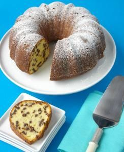 Buttery Chocolate-Chip Cake Recipe (The Boston Globe), batter made with half and half