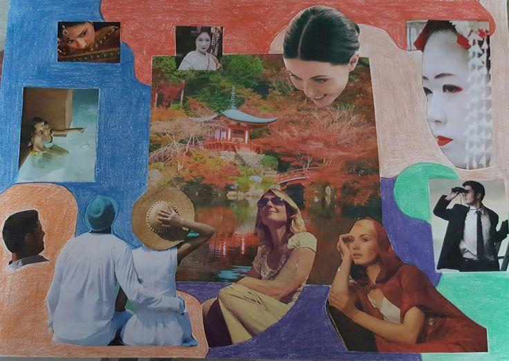 Mi foto collage tiene como temática el viaje y las distintas etnias y personas…