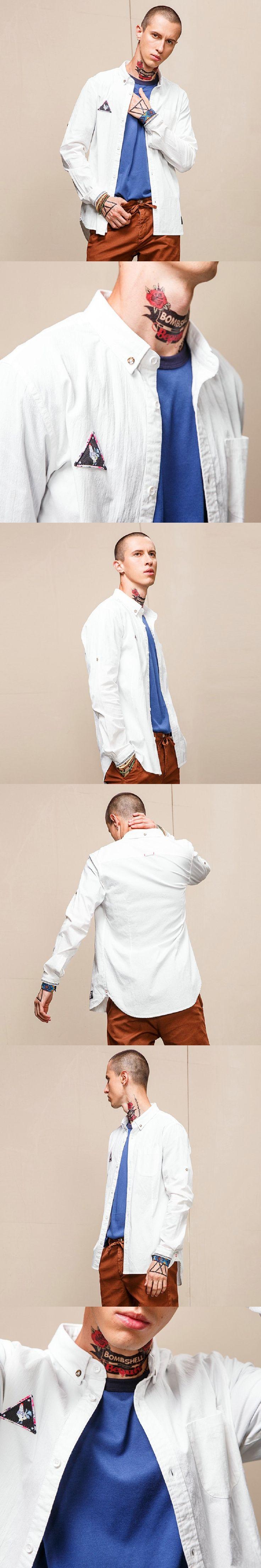 Fashion New 2017 Men Shirts Male Striped Formal Dress Shirt Long Sleeve Mens Brand Casual medusa Shirts