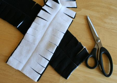 This fleece scarf is as fun to make as it is to wear. It's a great first-time-sewing project and perfect for the upcoming winter season. I made these with Halloween colors to help keep us warm as we trick-or-treat! Supplies for Fringe Fleece Scarf: 1/4 yard of fleece (any color) scissors sewing machine or needle …