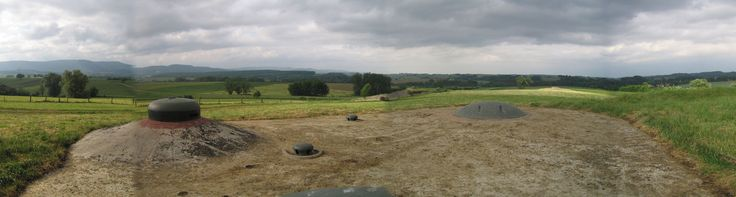 Maginot line 2 - The view from a battery at Ouvrage Schoenenbourg in Alsace. A retractable turret is in the left foreground.