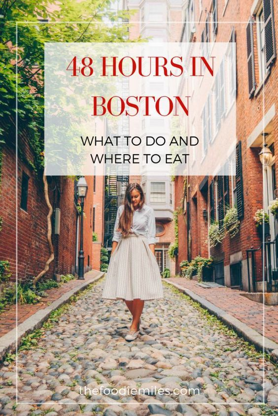 How to spend 48 hours in Boston: things to do and best places to eat. Click on pin to see the guide!