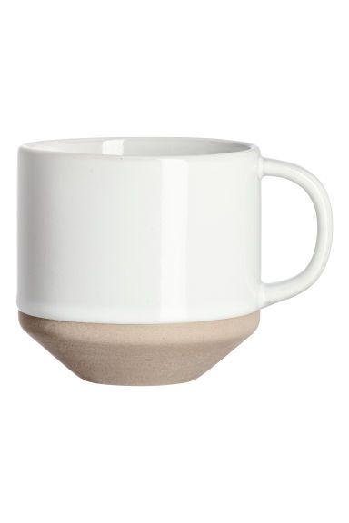 Stoneware cup - White - Home All | H&M GB 1