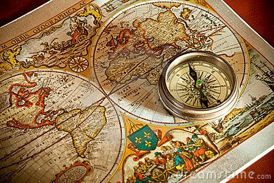 Old Map and pass Concepts by ur Ersin via Dreamstime