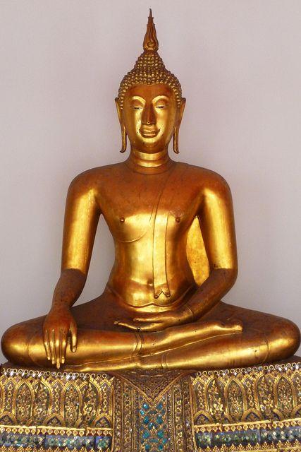 Golden Buddha at Wat Phra Kaew, Bangkok, Thailand