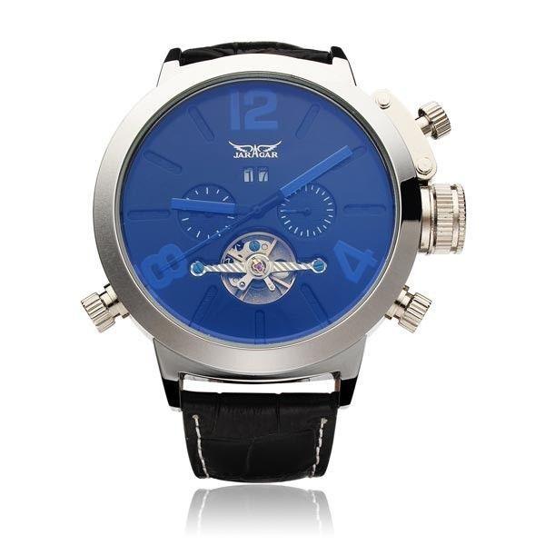 JARAGAR Automatic Mechanical Fashion Flywheel Men Wrist Watch #jaragar #Fashion
