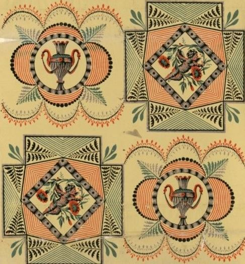 Wallpaper by Manufacture Bon, 1799. National Library of France, Public Domain