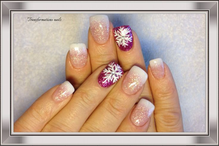 #nails by #transformations nails #snowflake nails  #christmax nails #art  #white nail #freehand  #nail art #funky nail #prink nails #sparkle nail shine nail.