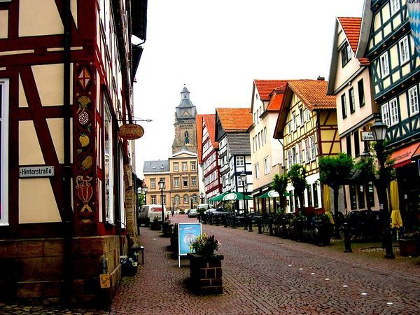 Bad Wildungen, Germany.  Aren't the streets gorgeous?!