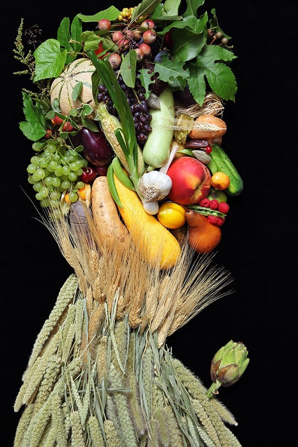 Fruits and vegetable portrait