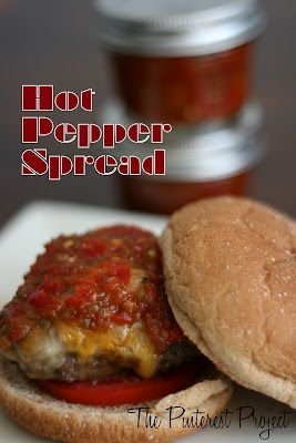 Hot Pepper Spread makes 2-3 1/4 pint jars 1 3/4C chopped hot peppers (I used cherry peppers, long hots and a couple habaneros)  1 C cider vinegar 1 Tbsp salt 1/2 C sugar  (I want to lower this a tad next time) @Kathy Marshall-Wardell