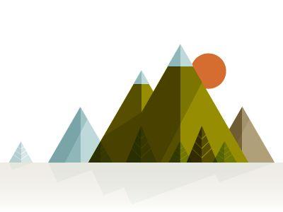 Mountains by Kurtis Beavers, via Dribble