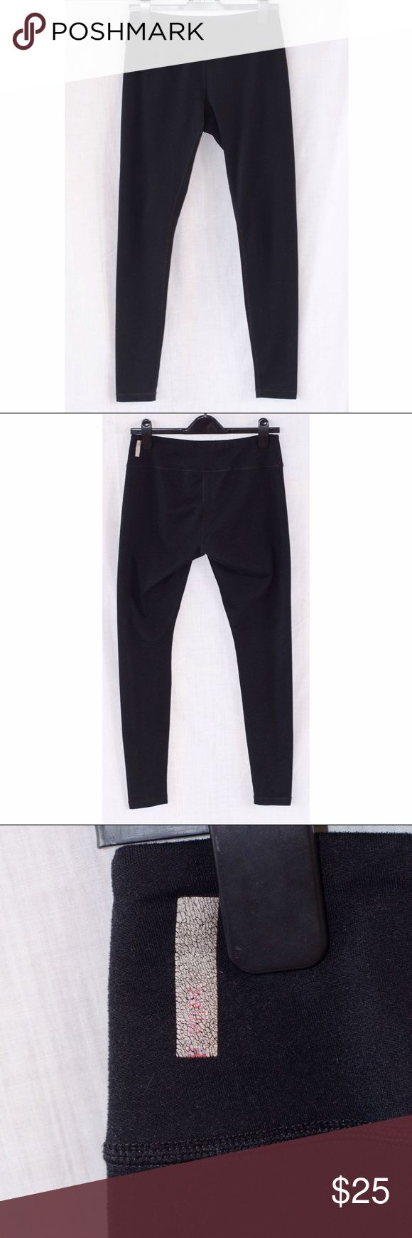 Zella black leggings Black leggings by Zella from Nordstrom. Basic thick black material pulls everything in and gives a great shape. Zella label is worn, but otherwise great condition. Size medium. Zella Pants Leggings