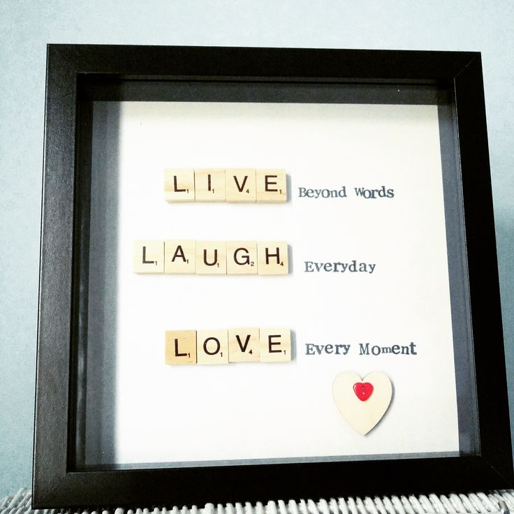 """Live beyond words"". Great gifts for any occasion. Frame 23x23cm £15"