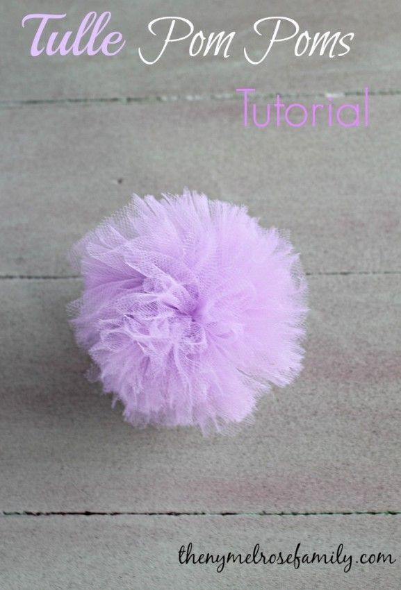 Tulle Pom Poms Tutorial --// going to make these for baby H and sew them on a headband