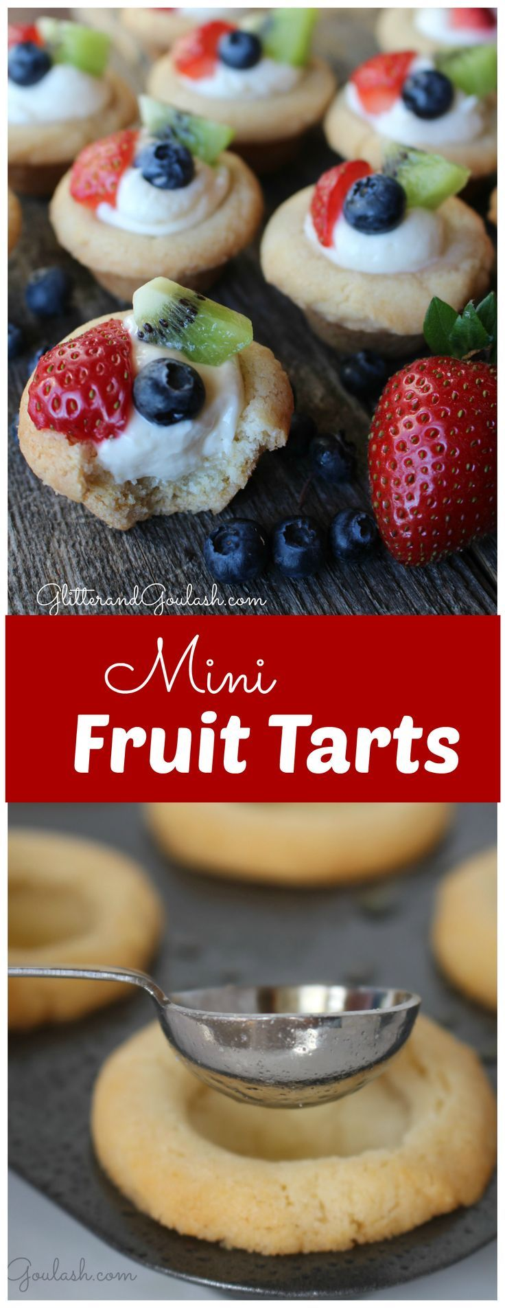 These Mini Fruit Tarts are amazing!! Super quick and easy using sugar cookie mix.