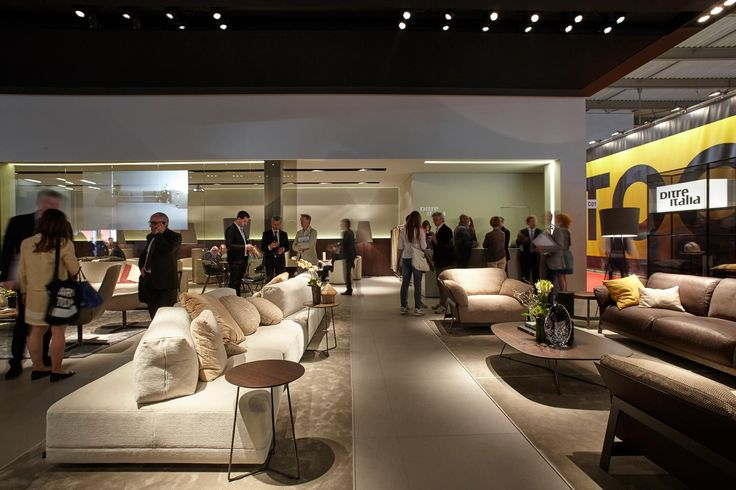 Presenting the new sofa collection during Salone del Mobile, Milan. 2015