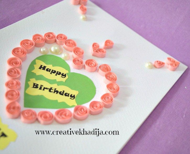 Quilling Card Making Ideas Part - 39: Paper Quilling Cards Making Ideas For Eid And Birthday.Handmade Quilling  Cards, Greeting Cards For Sale.Handmade Cards By Creative Khadija.